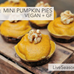 No Bake Mini Pumpkin Pies {Vegan + Gluten Free}
