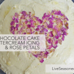 Chocolate Cake with Buttercream and Rose Petals