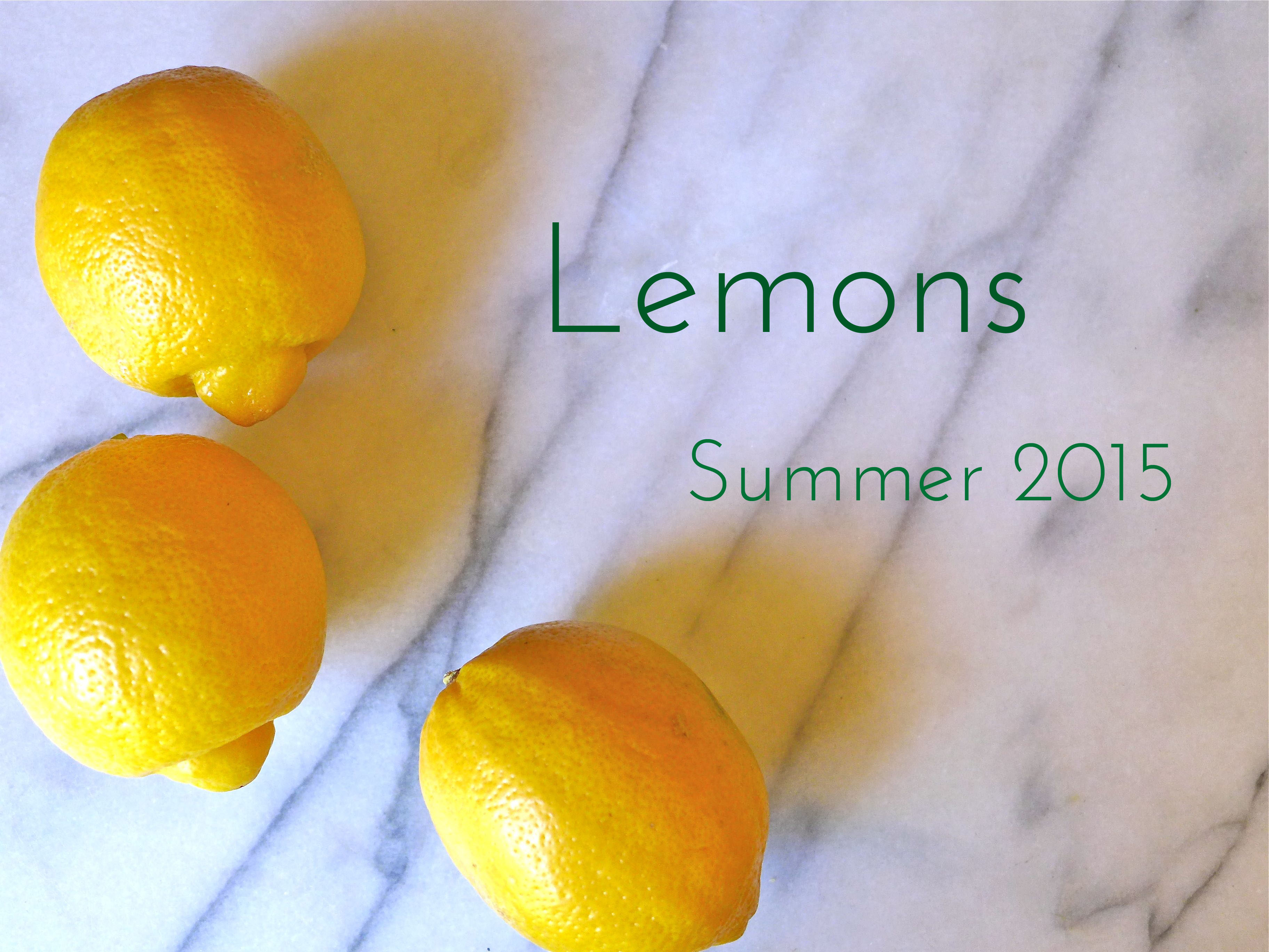 Summer 2015 : Lemon
