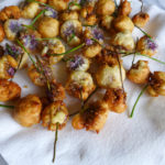 Chive Blossom Fritters