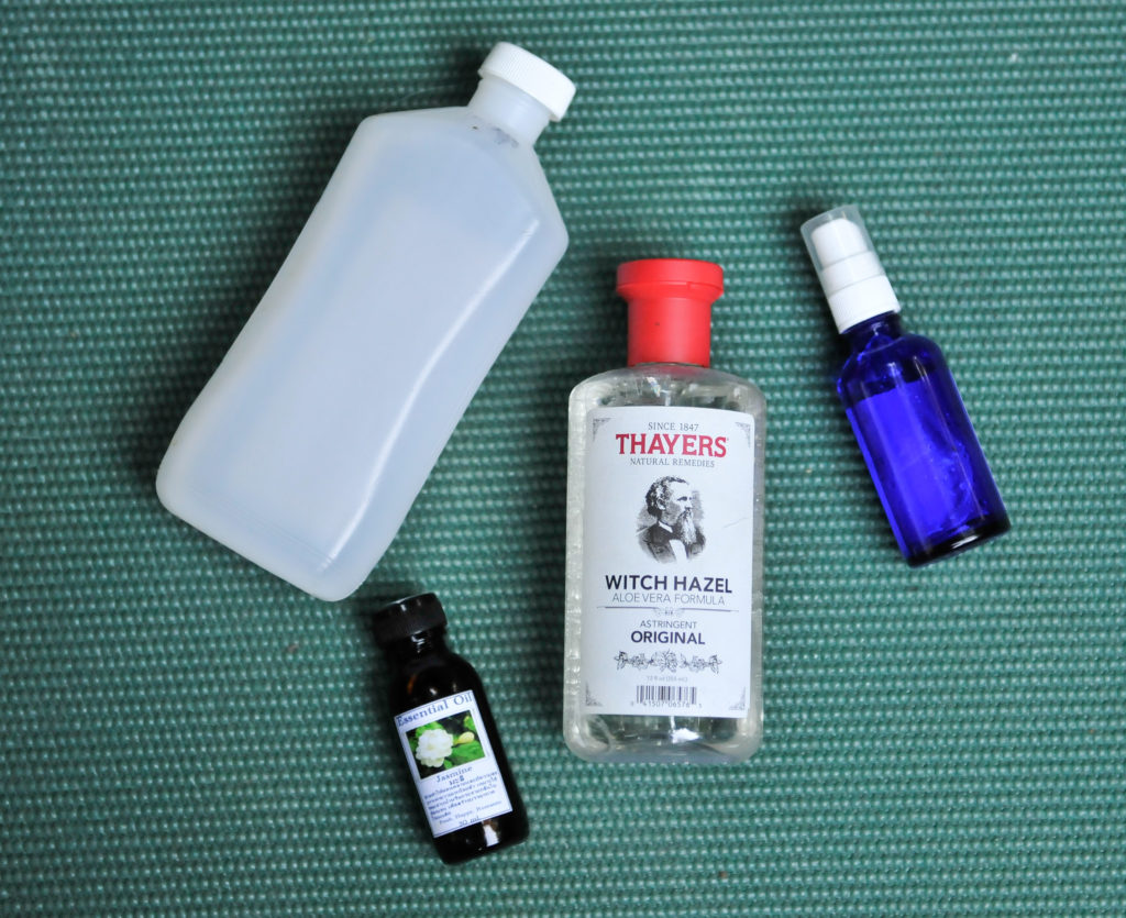 how to make diy yoga mat cleaner