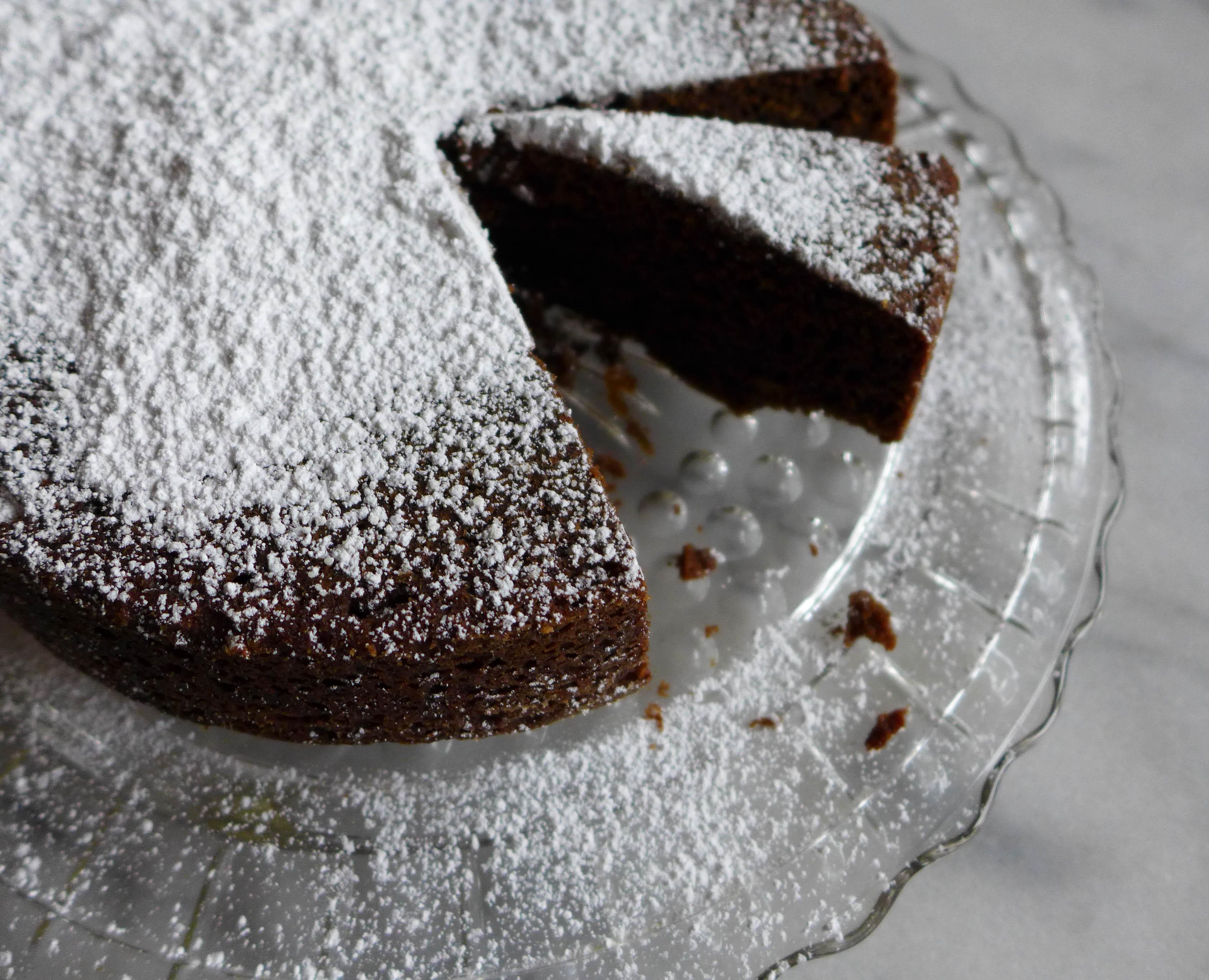 First Snow Cake!